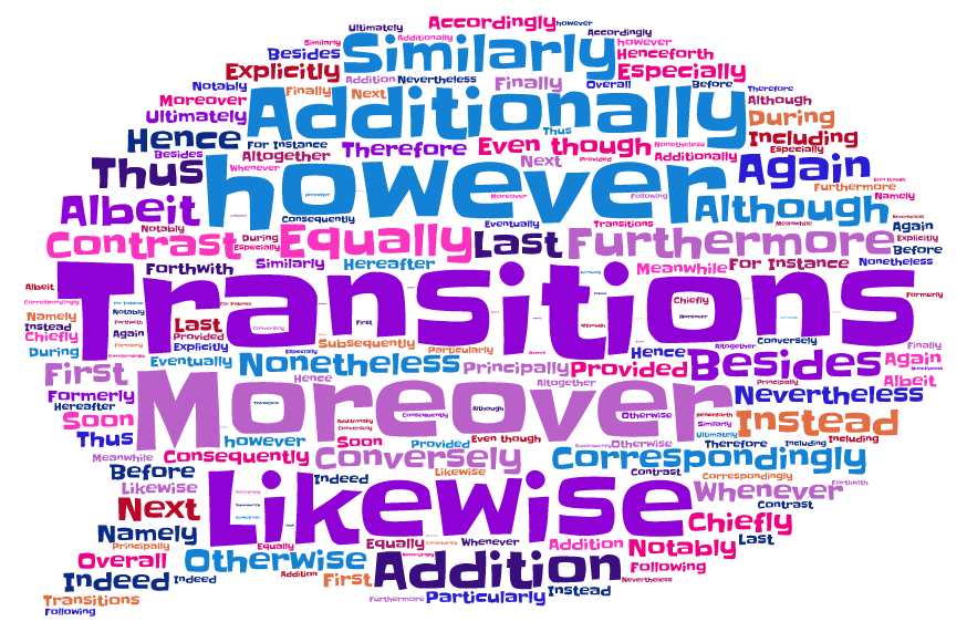 how to use transition words in academic writings